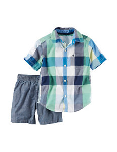 Carter's 2-pc. Plaid Print Shirt & Shorts Set - Toddler Boys