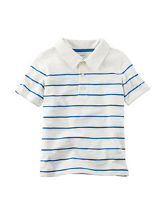 Carter's Blue & White Stripe Print Polo - Boys 5-8