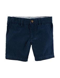 Carter's Navy Canvas Shorts - Toddler Boys