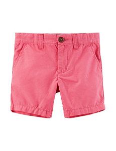 Carter's Pink Canvas Shorts - Toddler Boys