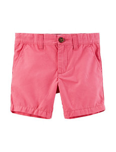 Carter's Pink Canvas Shorts - Boys 5-8