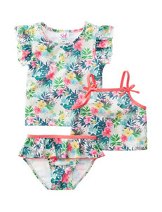 Sole Swim 3-pc. Floral Mix & Match Swim Set - Toddler Girls