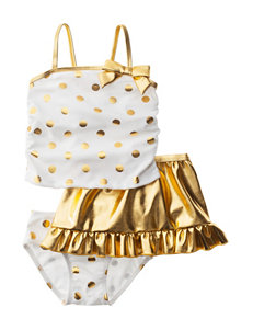 Sole Swim white/gold Swimsuit Sets Tankini