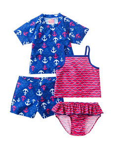 Sole Swim Pink / Blue Swimsuit Sets Tankini