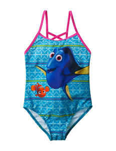 Licensed Turquiose One-piece Swimsuits