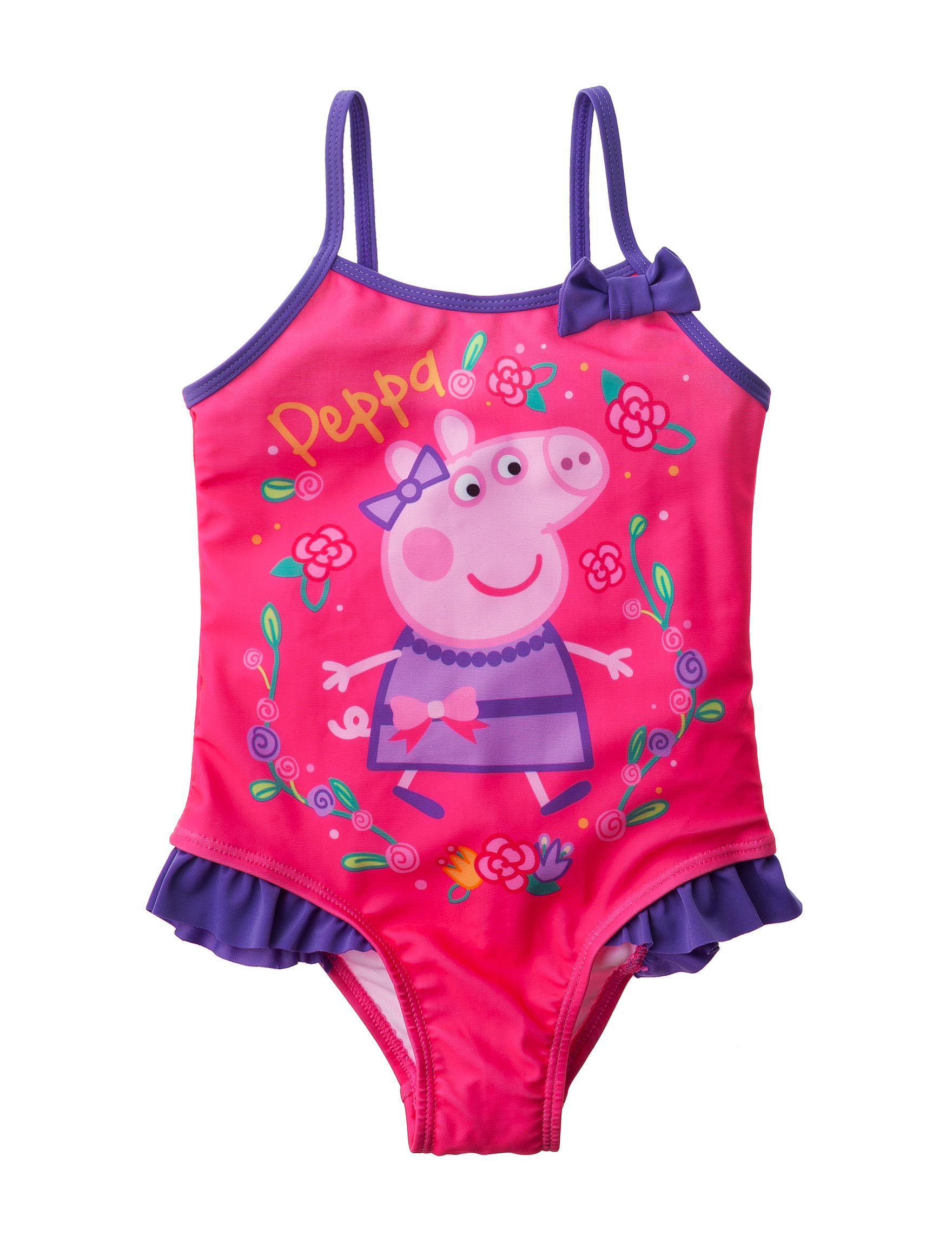 Licensed Pink One-piece Swimsuits