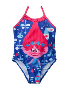 Licensed Blue One-piece Swimsuits