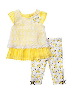 Nannette 2-pc. Floral Print Top & Leggings Set - Baby 12-24 Mos.