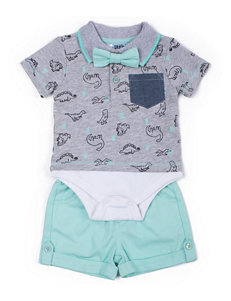 Boys Rock 2-pc. Dino Polo Bodysuit & Shorts Set - Baby 3-9 Mos.