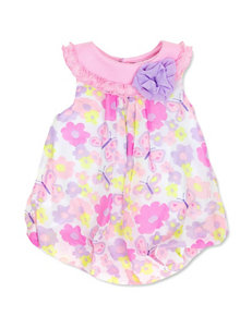Baby Essentials Butterfly & Floral Print Bubble Dress - Baby 3-9 Mos.