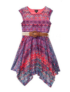 Lilt Crochet Dress with Belt - Girls 7-16