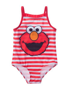 Elmo Ruffle Trim One-Piece Swimsuit - Baby 12-24 Mos.