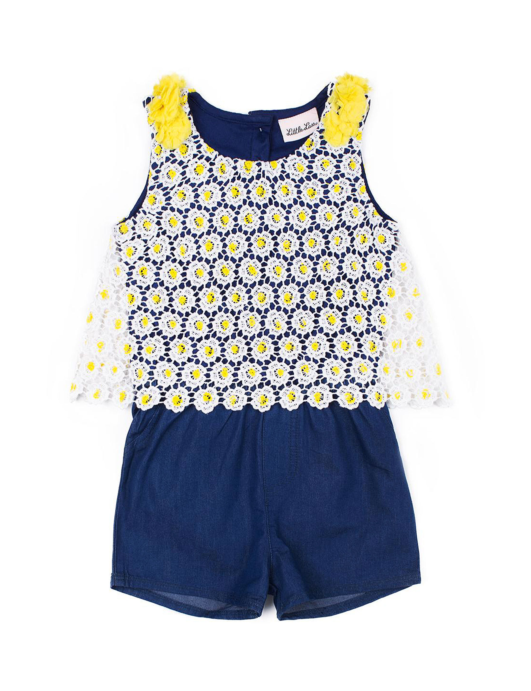 Little Lass Navy / Yellow