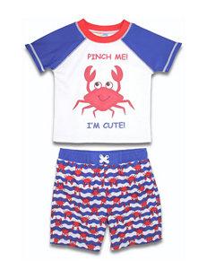 Sole Swim 2-pc. Pinch Me Rashguard & Swim Trunks Set - Baby 12-24 Mos.
