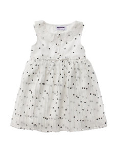 Blueberi Boulevard Pleated Chiffon Dress - Baby 12-24 Mos.