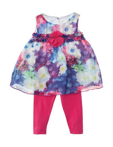 Lavender 2-pc. Flower Appliqué Top & Leggings Set - Baby 12-24 Mos.