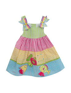 Rare Editions 2-pc. Fish Seersucker Dress & Diaper Cover Dress - Baby 12-24 Mos.