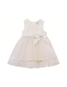 Rare Editions 2-pc. Chiffon Basket Weave Dress & Diaper Cover Set - Baby 12-24 Mos.