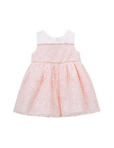 Rare Editions 2-pc. Sequin Lace Social Dress & Diaper Cover - Baby 12-24 Mos.