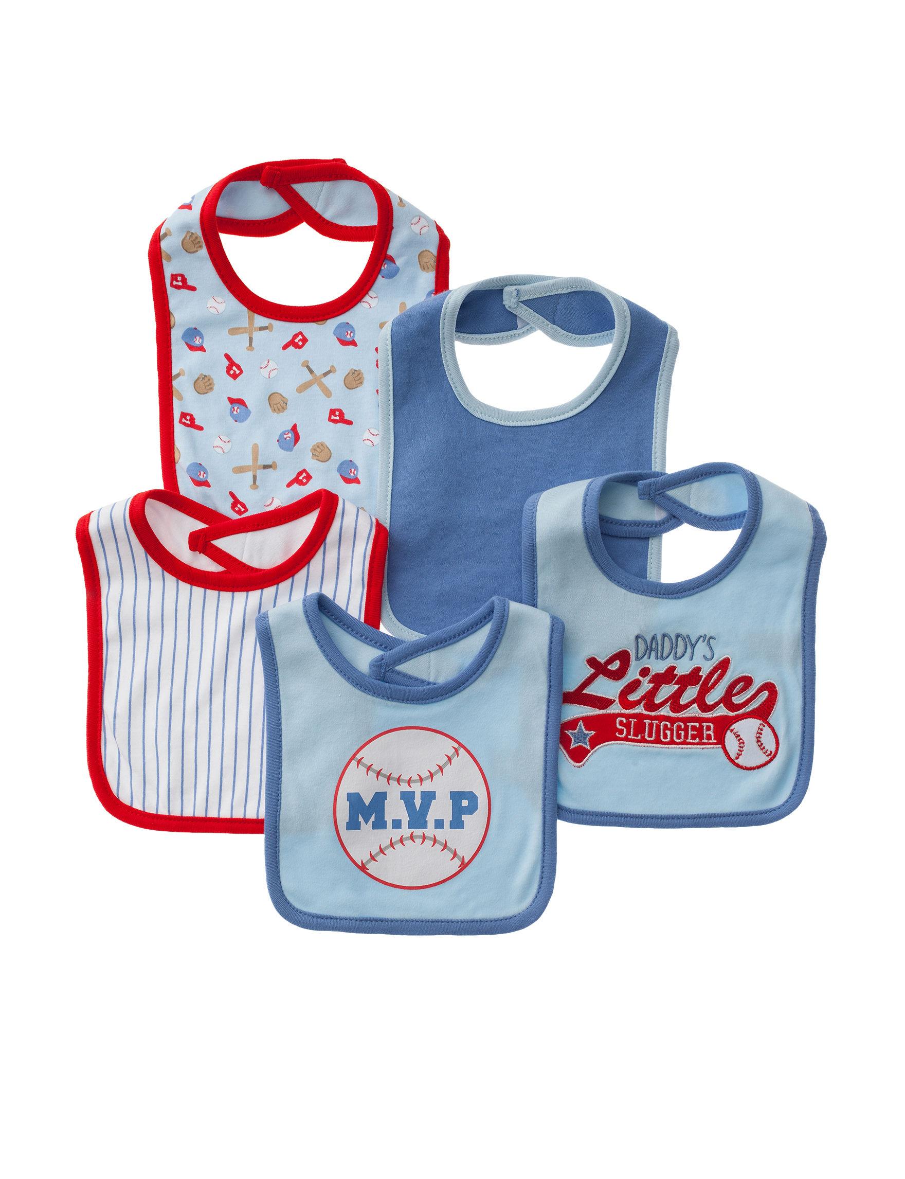Baby Gear Blue Bibs & Burp Cloths