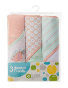 Baby Gear 3-pk. Turtle Appliqué Hooded Towels