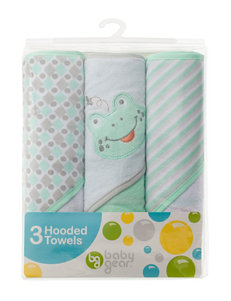 Baby Gear 3-pk. Frog Hooded Towel Set