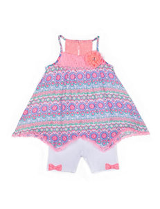 Little Lass 2-pc. Crochet Trim Top & Shorts Set - Baby 12-24 Mos.