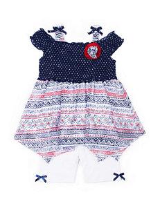 Little Lass 2-pc. Chiffon Smock Top & Shorts Set - Baby 12-24 Mos.
