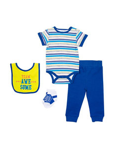 Baby Gear 4-pc. Team Awesome Bodysuit & Pants Set - Baby 0-12 Mos.