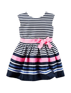 Carter's Striped Sateen Dress - Toddler Girls