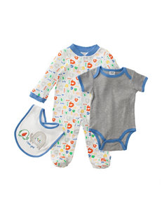 Baby Gear 3-pc. Embroidered Elephant Sleeper Set - Baby 0-6 Mos.