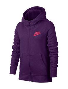 Nike Purple Fleece & Soft Shell Jackets