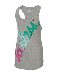 Adidas Heather Grey Tees & Tanks