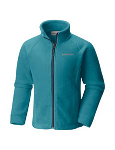 Columbia Teal Fleece & Soft Shell Jackets
