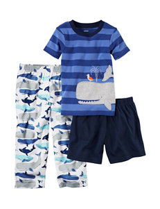 Carter's 3-pc. Whale Pajama Set - Toddler Boys