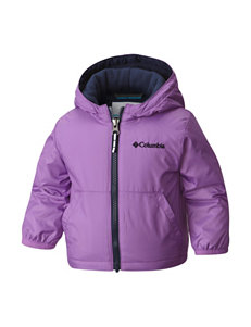 Columbia Purple Fleece & Soft Shell Jackets