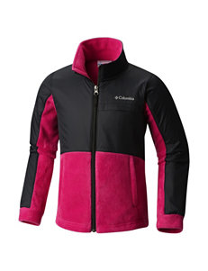 Columbia Black / Pink Fleece & Soft Shell Jackets