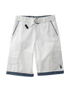 U.S. Polo Assn. White Relaxed