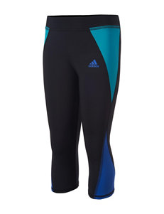 adidas Color Block Capri Leggings - Girls 7-16