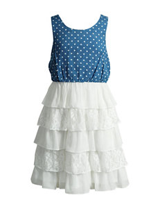Emily West Chambray Tiered Dress - Girls 7-16