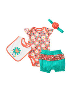 Baby Gear 4-pc. Bodysuit & Bloomers Set - Baby 0-12 Mos.