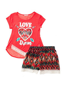 One Step Up 2-pc. Love Dream Top & Shorts Set - Girls 7-16