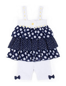 Little Lass Navy / White