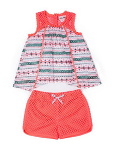 Little Lass 2-pc. Texture Top & Shorts - Toddlers & Girls 4-6x