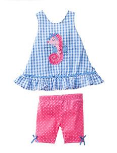 Nannette 2-pc. Seahorse Top & Leggings Set - Baby 12-24 Mos.
