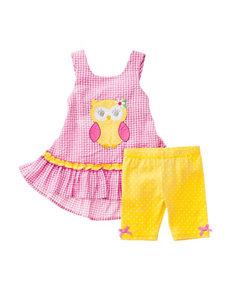Nannette 2-pc. Owl Top & Leggings Set - Baby 12-24 Mos.