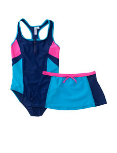 Pink Platinum Navy One-piece Swimsuits