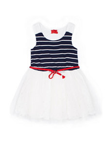 Little Lass White / Navy