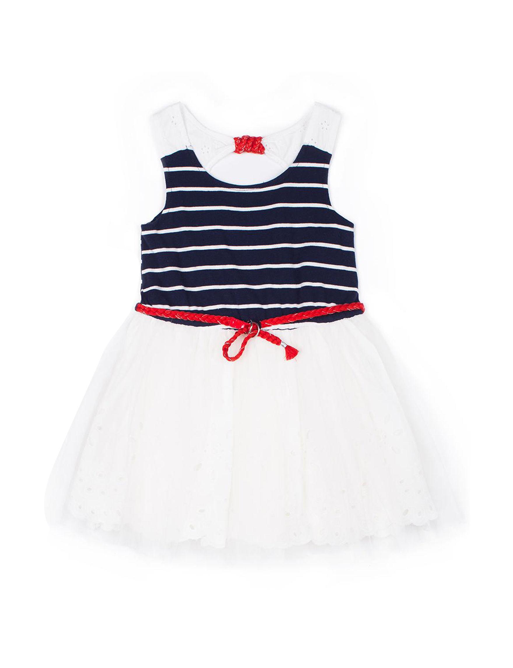 Little Lass White / Navy