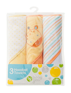 Baby Gear Yellow Hooded Towels
